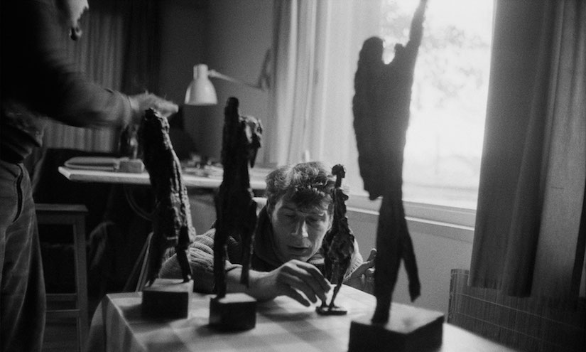 Main-john-berger-in-the-studio-of-sculptor-henri-presset-geneva-1962-